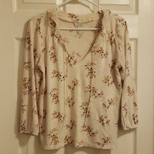 Lucky Brand 3/4 length blouse